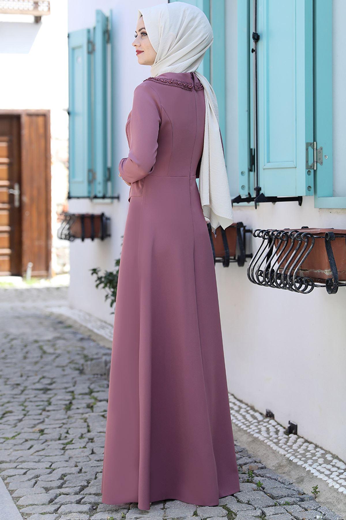 Ahunisa Ayliz Elbise Gül Kurusu AHU9318
