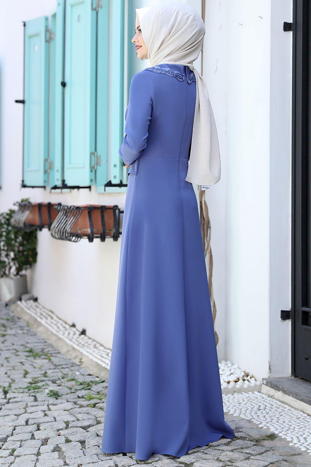 Ahunisa Ayliz Elbise Bebe Mavi AHU9318