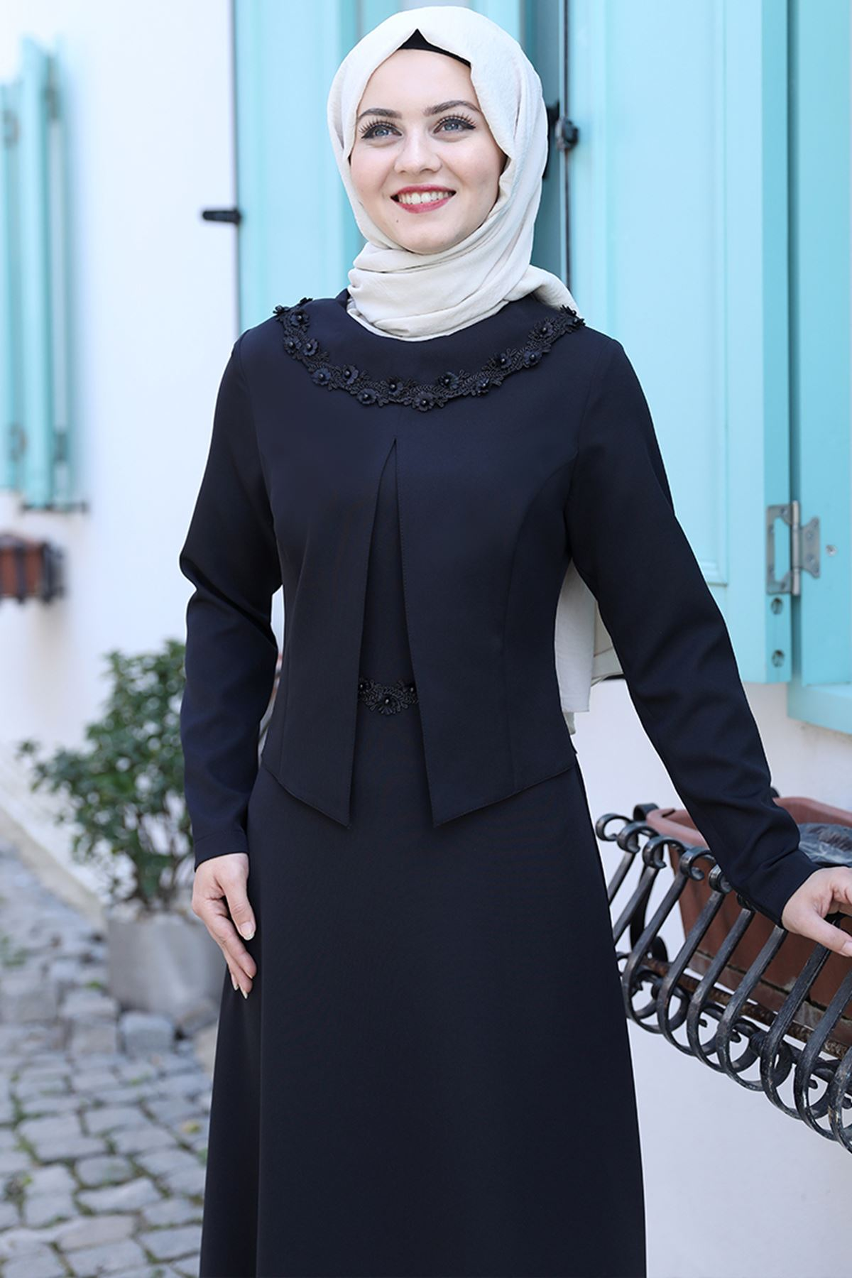 Ahunisa Ayliz Elbise Siyah AHU9318