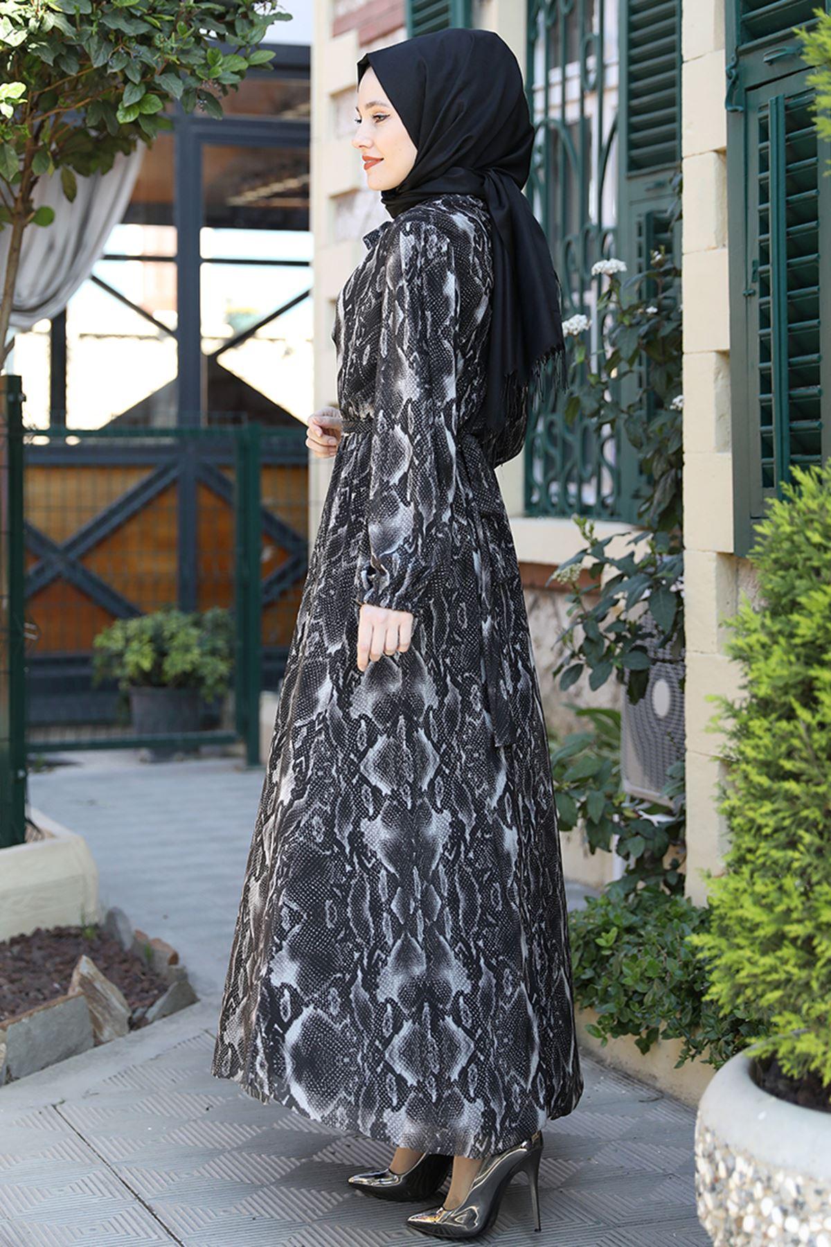 Emsale Lorin Elbise Siyah EMS8331