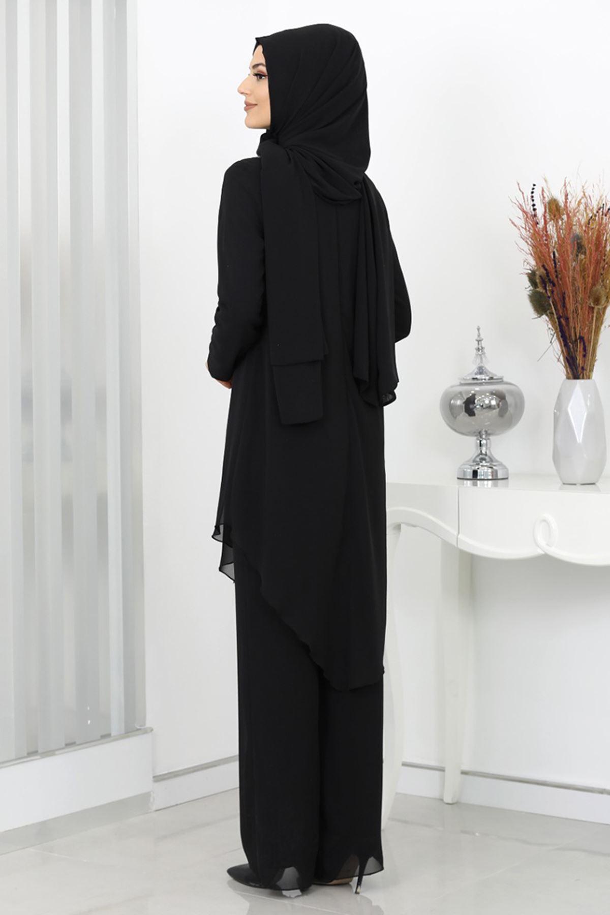 Surikka Ela İkili Takım Siyah SUR5517