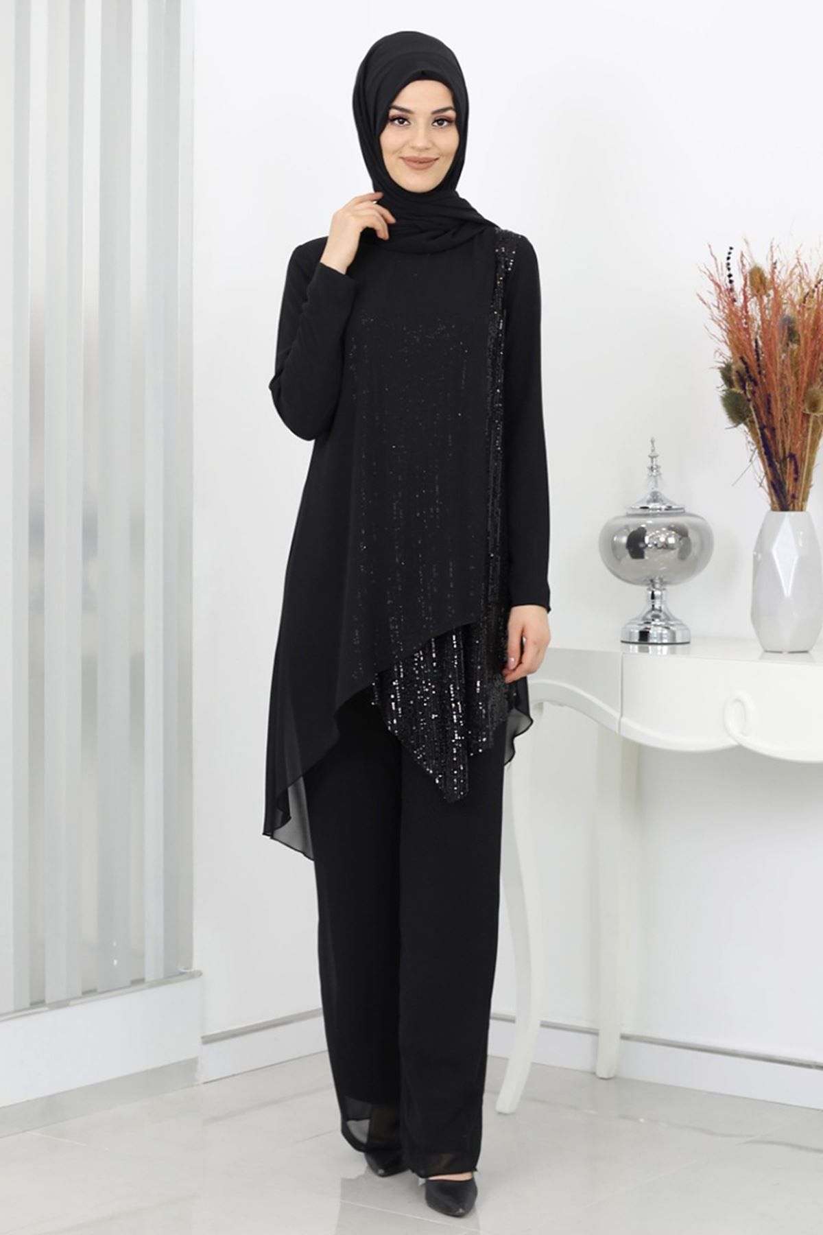 Surikka Zehra Abiye Takım Siyah SUR5520