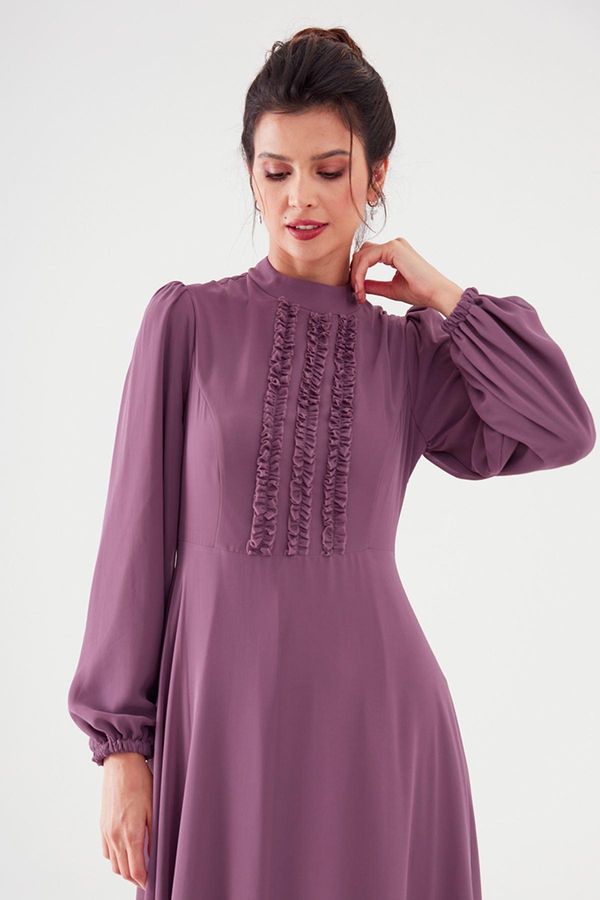 Nurgül Çakır Polina Elbise Leylak NUR7106