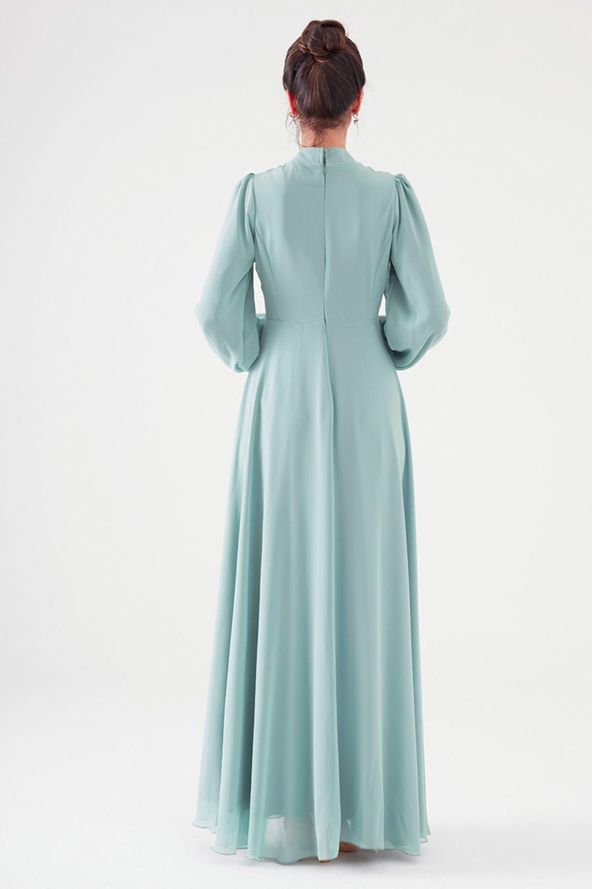 Nurgül Çakır Polina Elbise Mint Yeşili NUR7106