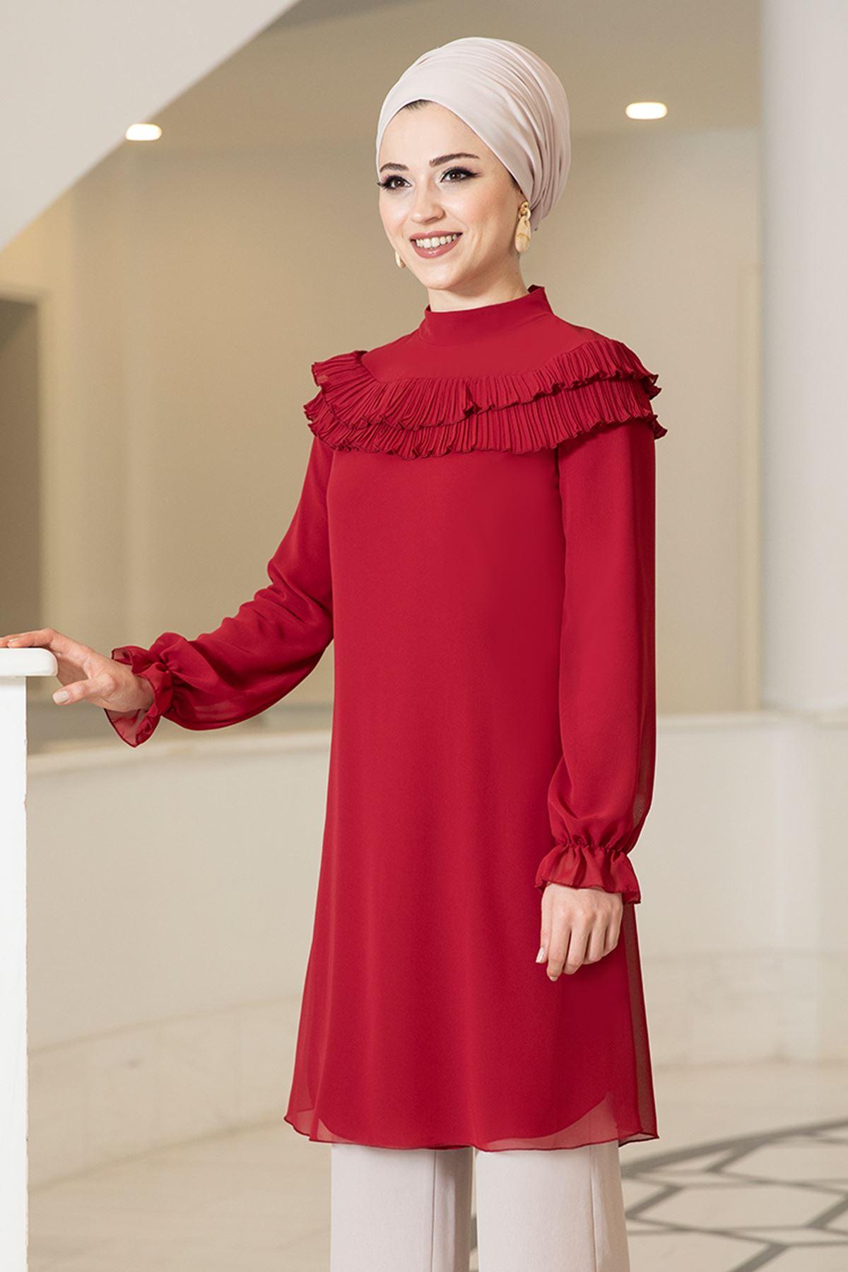 DressLife  Elvin Tunik Kırmızı DRE2029