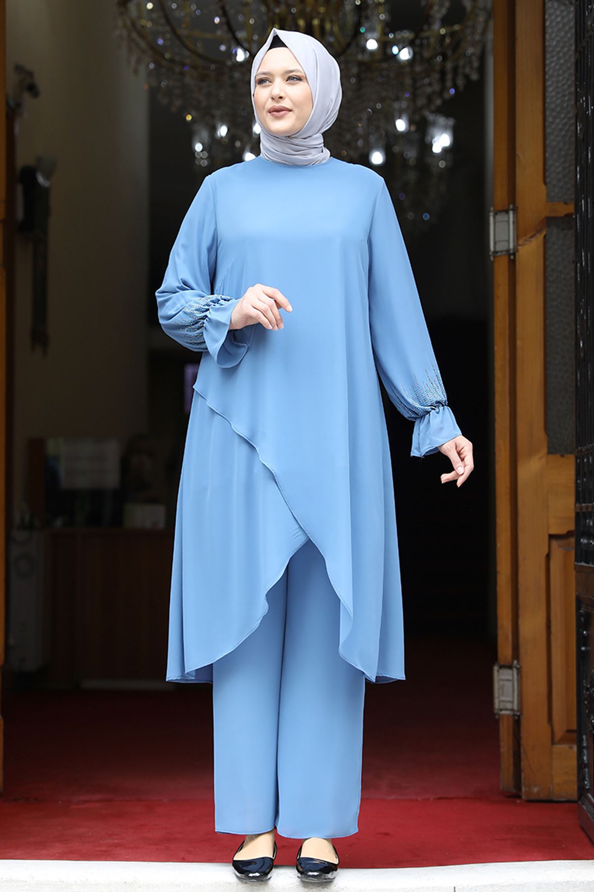 Amine Hüma Azra İkili Takım Mavi AMİ1070
