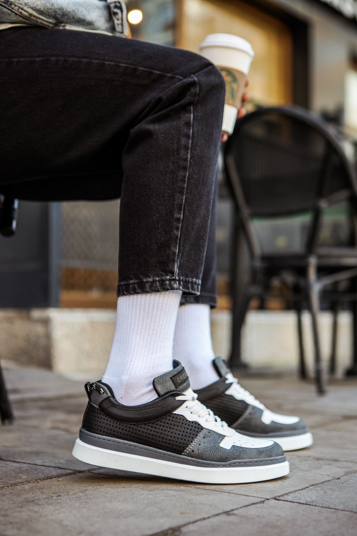 Chekich CH109 BT Erkek Ayakkabı ANTRASİT/BEYAZ/SİYAH