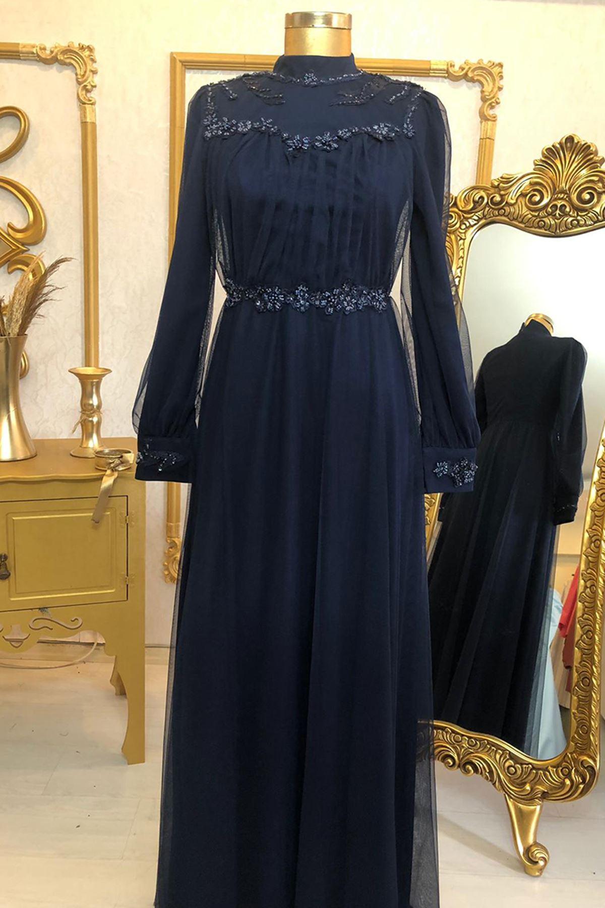 Burak Baran Fashion Gülru Abiye Lila BUR6705