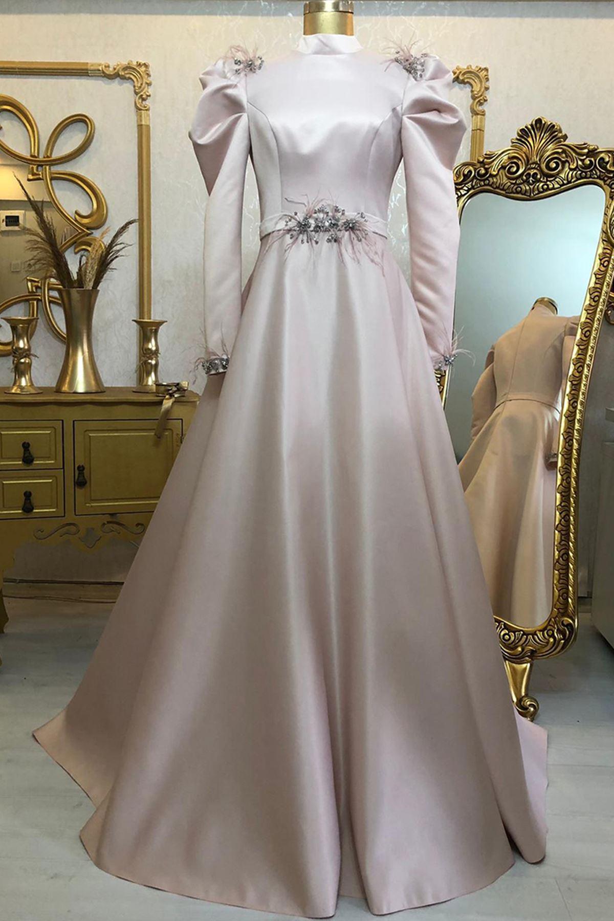 Burak Baran Fashion  Ala Abiye Pudra BUR6708