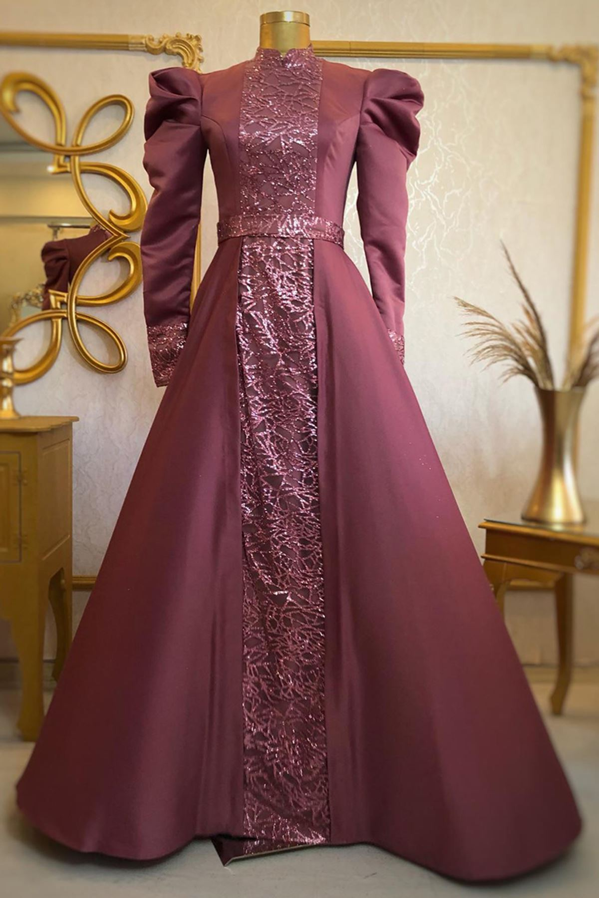 Burak Baran Fashion  Gülfem Abiye Gül Kurusu BUR6709