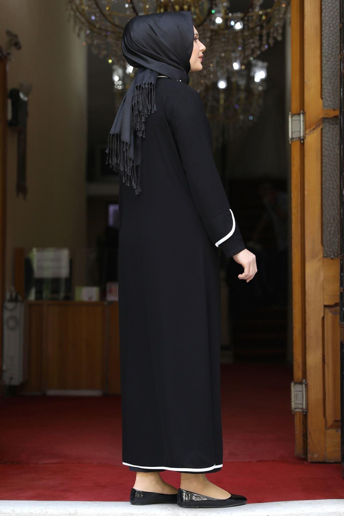 Amine Hüma Osmanlı Ferace Siyah AMİ1076