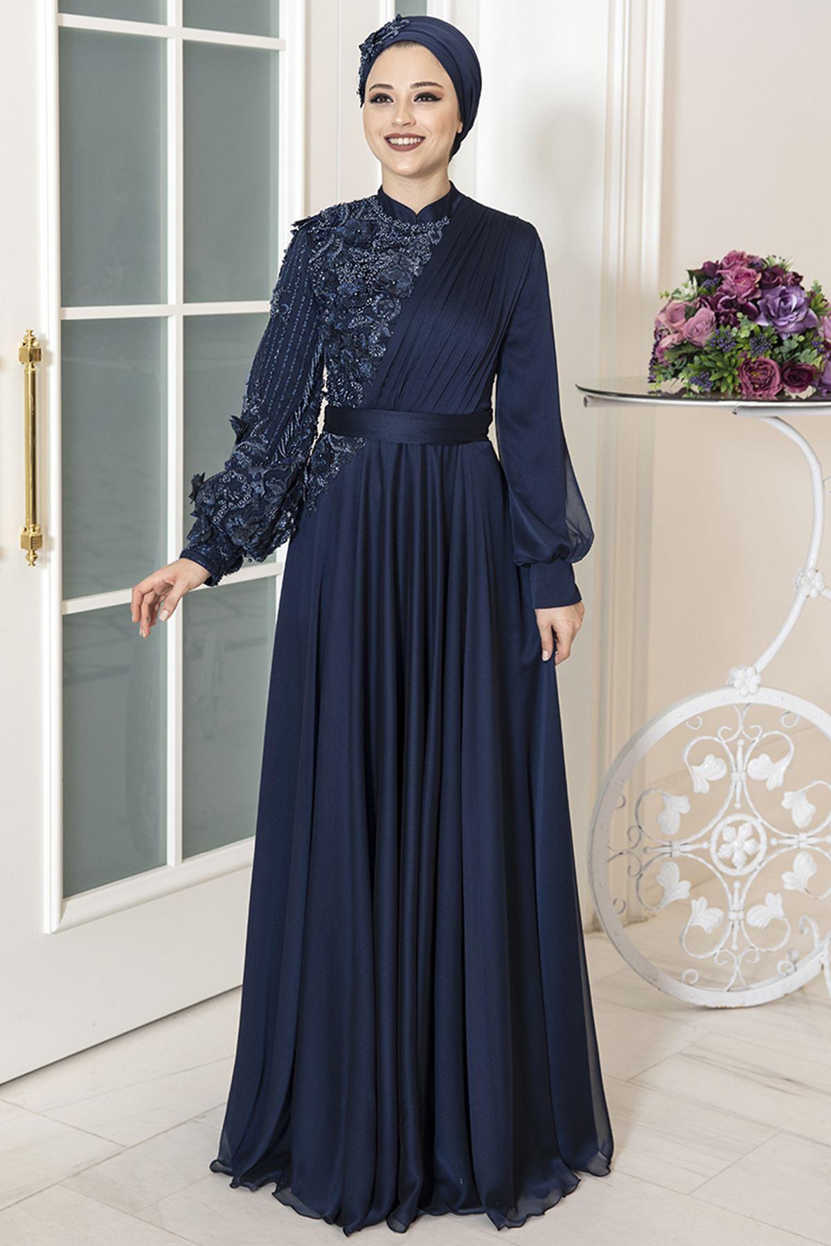 Al Marah Melisa Abiye Lacivert ALM3019