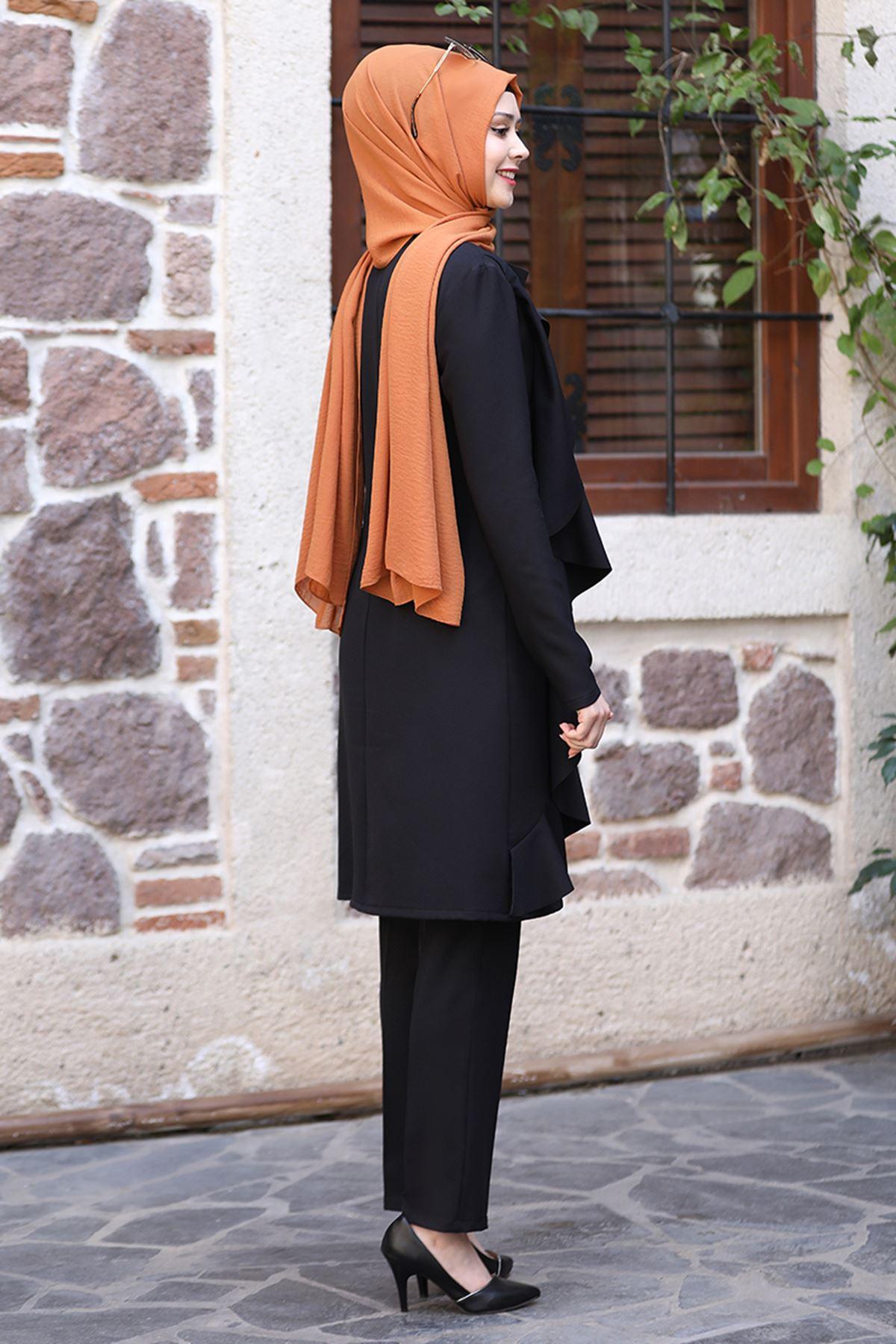 Sefa Nisa Melis İkili Takım Siyah SEF3509