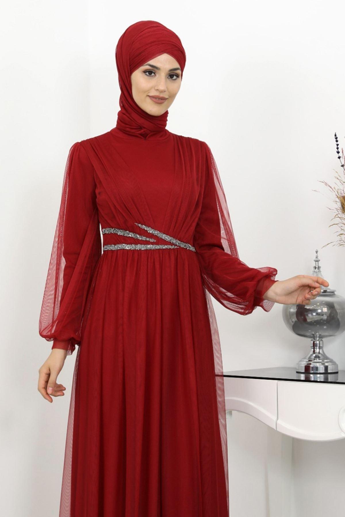 Surikka Aysima Abiye Kırmızı SUR5521