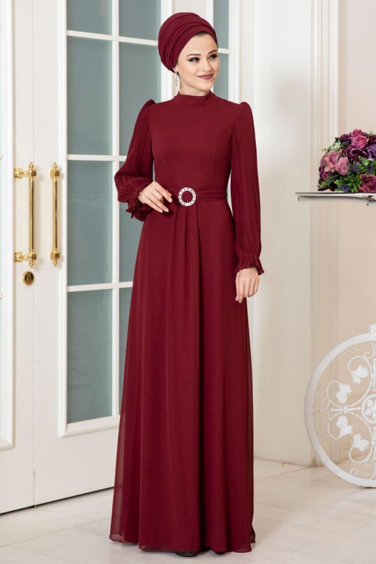 Dresslife Defne Elbise Bordo DRE2031