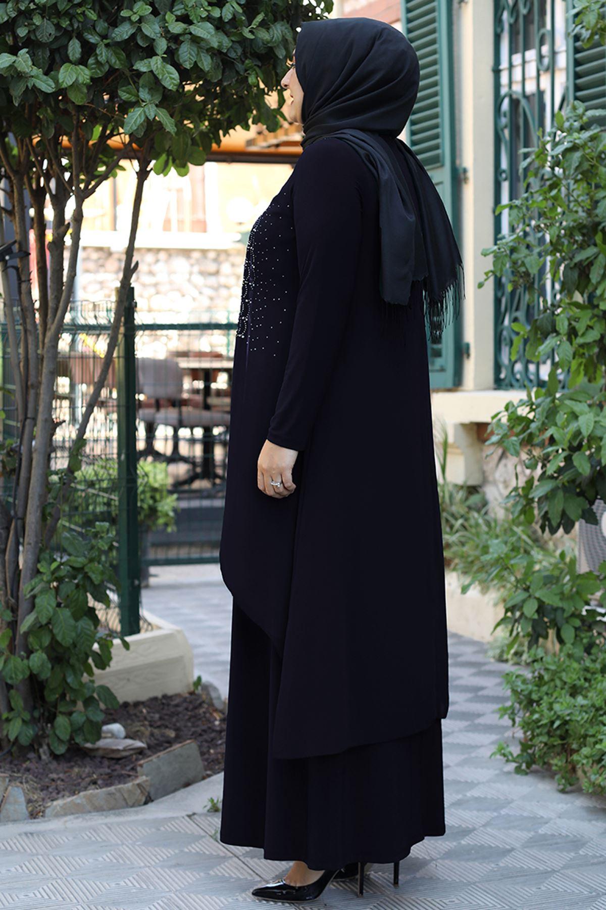 Emsale Elenşah Abiye Siyah EMS8339