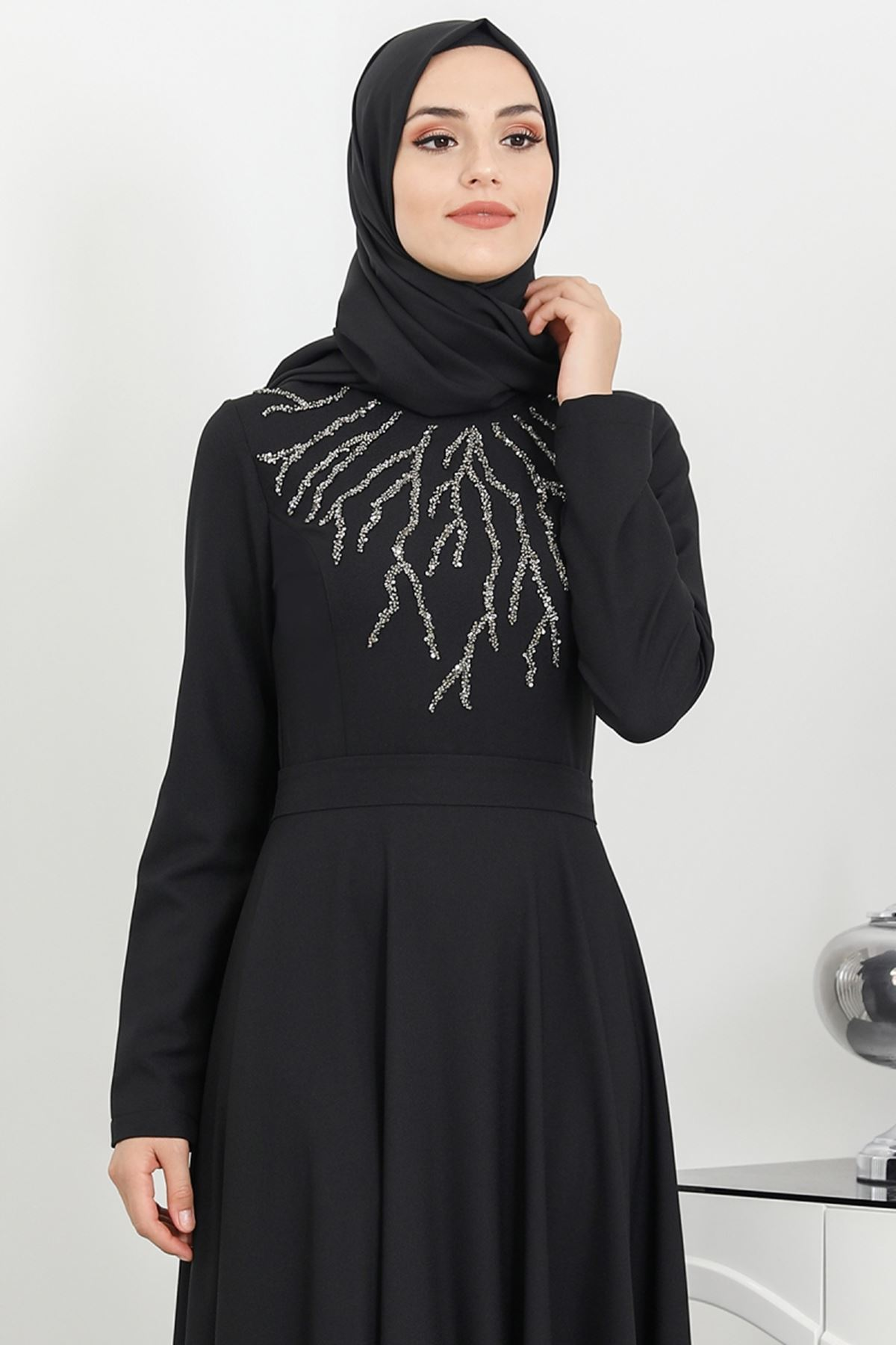 Surikka Hilal Abiye Lacivert SUR5526