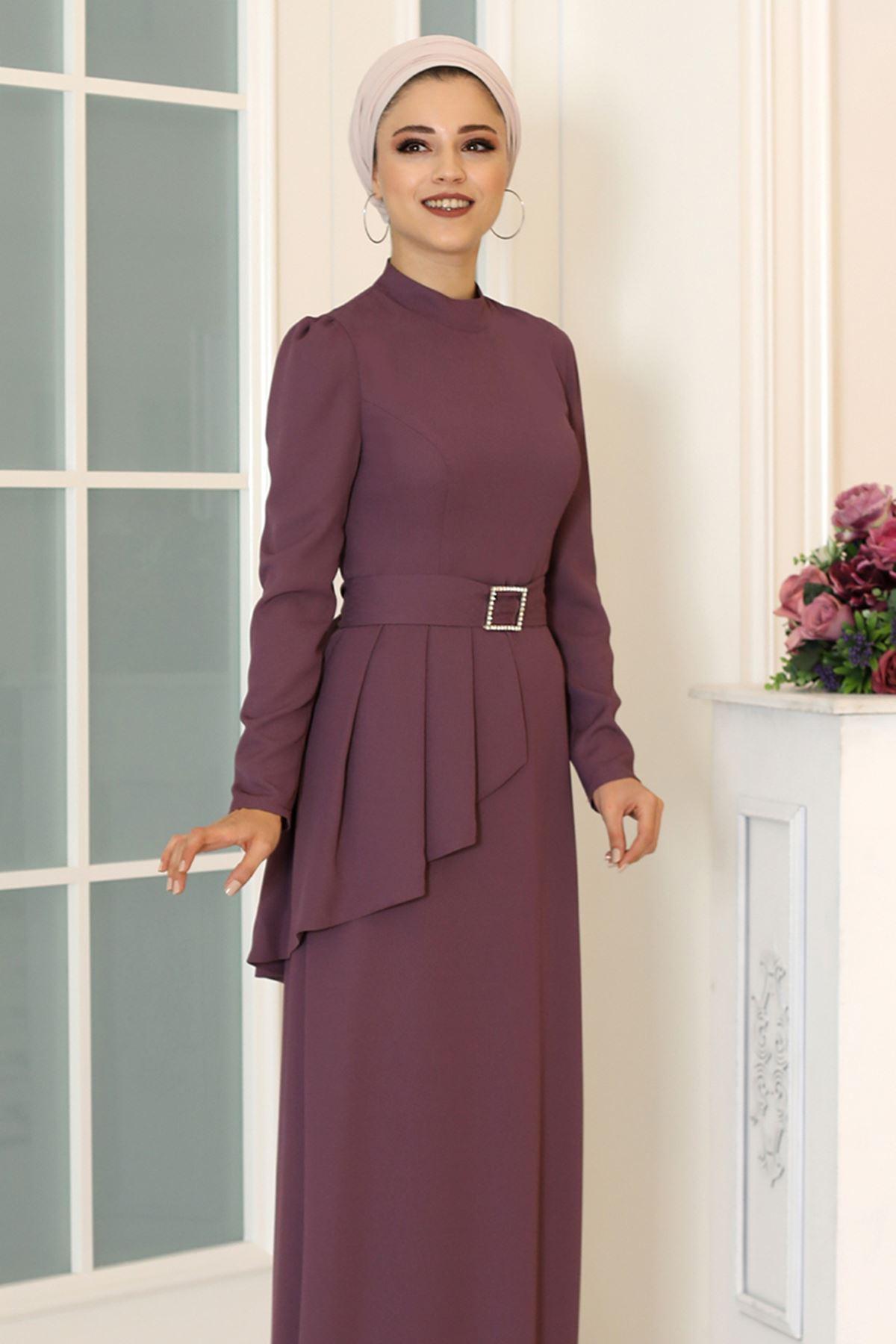 DressLife  Ceyda Elbise Mor DRE2032