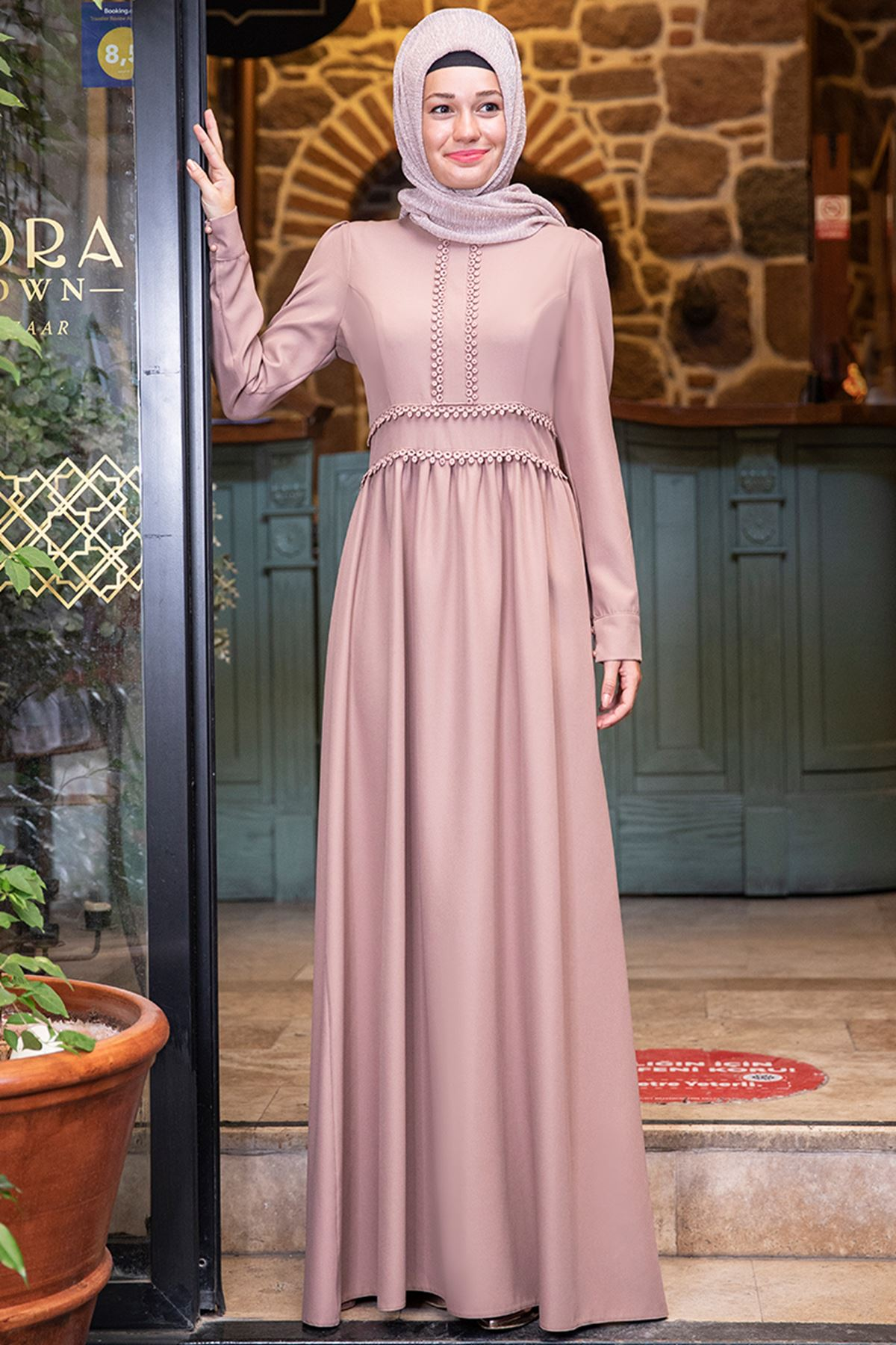 Sure Papatya Elbise Pudra SUR50008