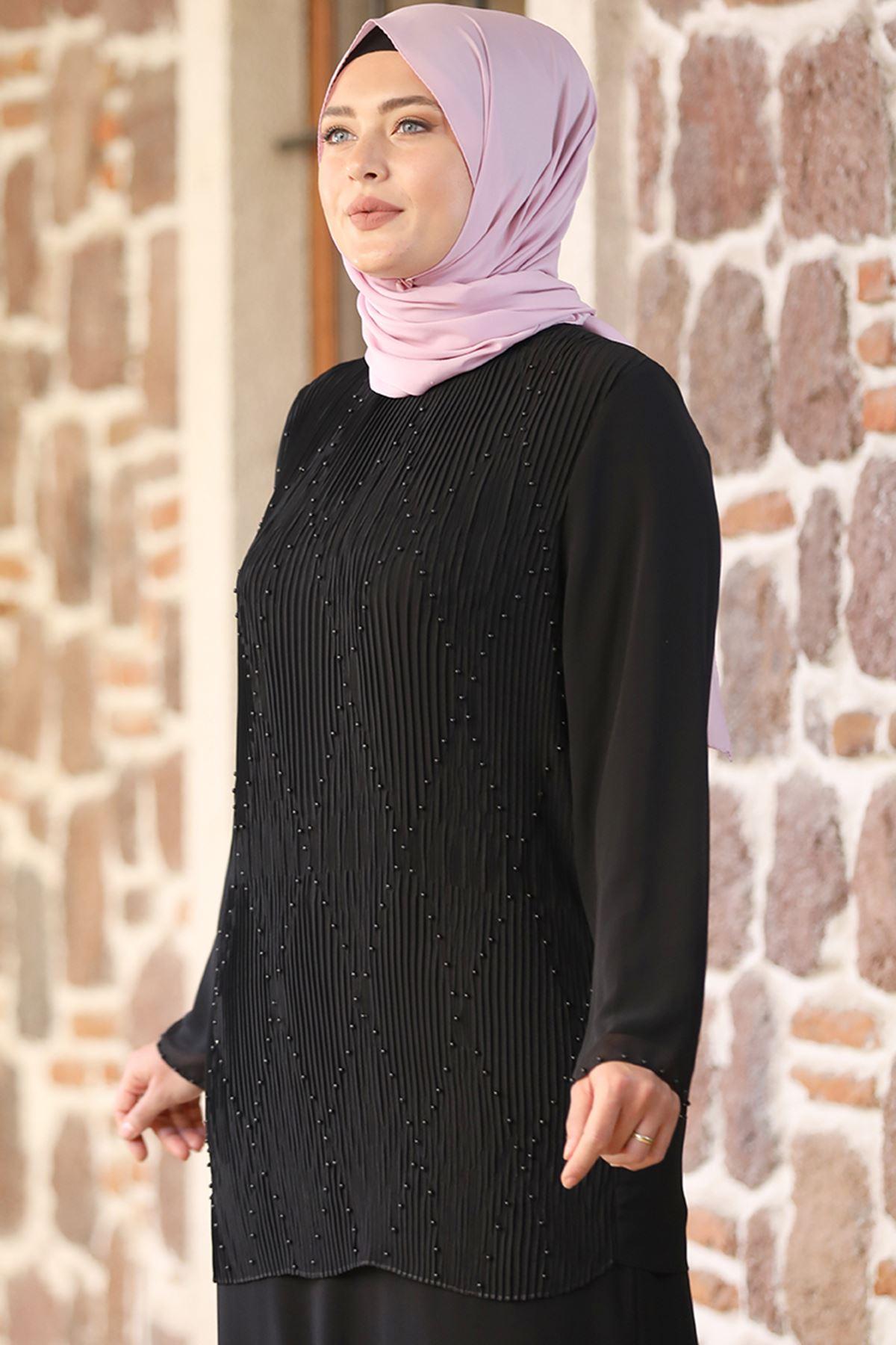 Amine Hüma Asil Abiye Siyah AMİ1021