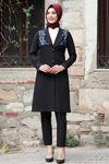 Rana Zen Sude Deri Kap Ve Pantolon İndigo RAN6919