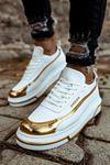 Chekich CH041 BT Erkek Ayakkabı BEYAZ/ALTIN