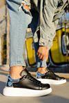 Chekich CH259 BT Kadın Ayakkabı SİYAH/GUMUS