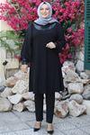 Emsale Nazarel Tunik Siyah EMS8343