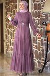 Amine Hüma Soft Elbise Gül Kurusu AMİ1026